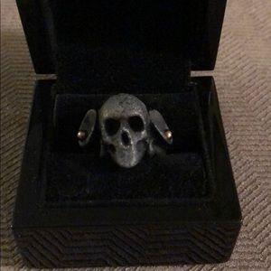Macabre Gadgets Black Skull Ring